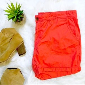 Levi Coral Orange Shorts
